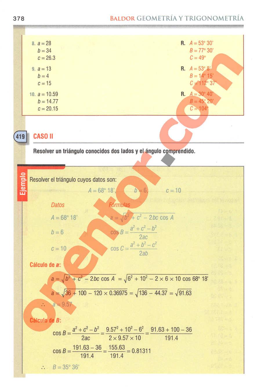 Geometría y Trigonometría de Baldor - Página 378