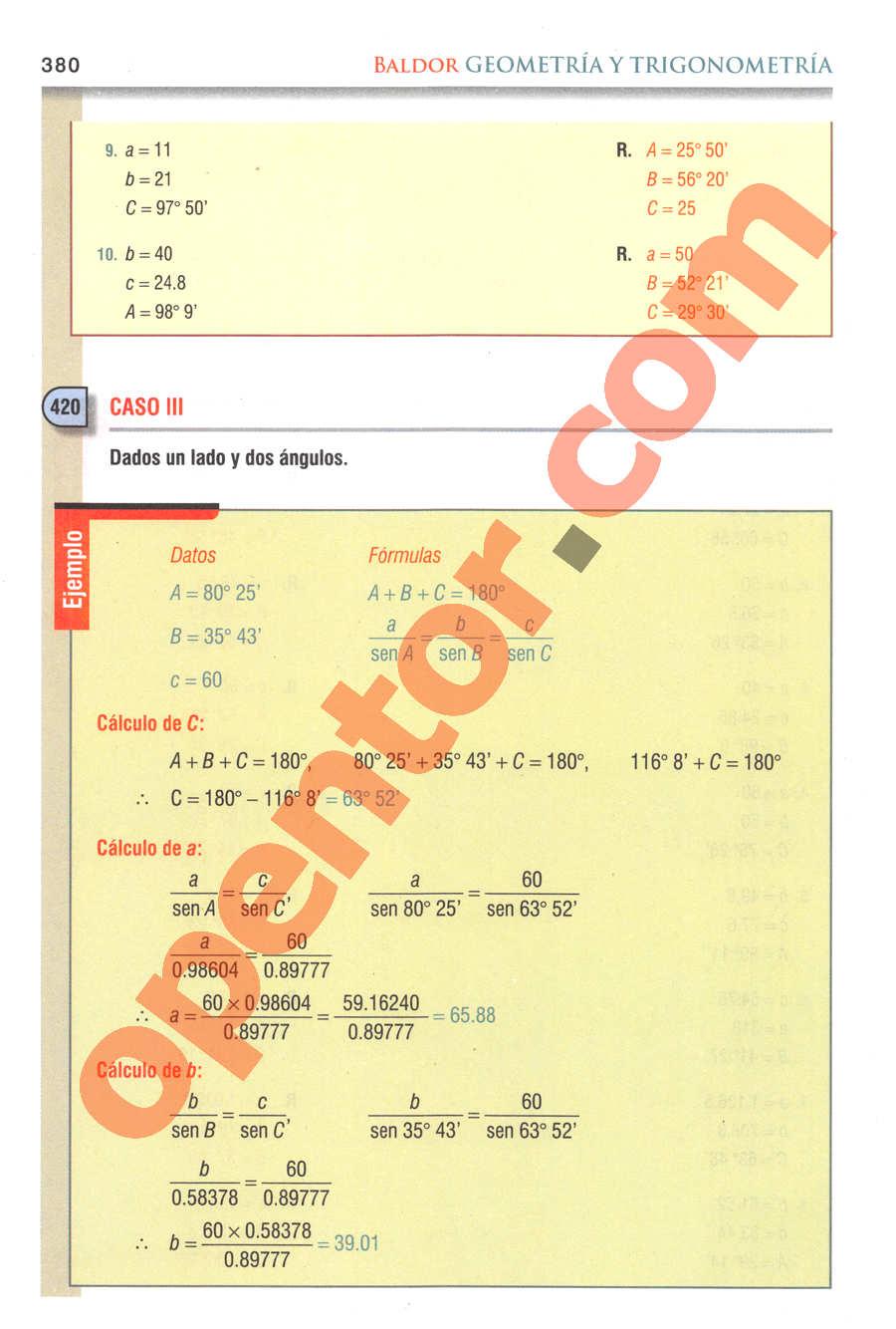 Geometría y Trigonometría de Baldor - Página 380