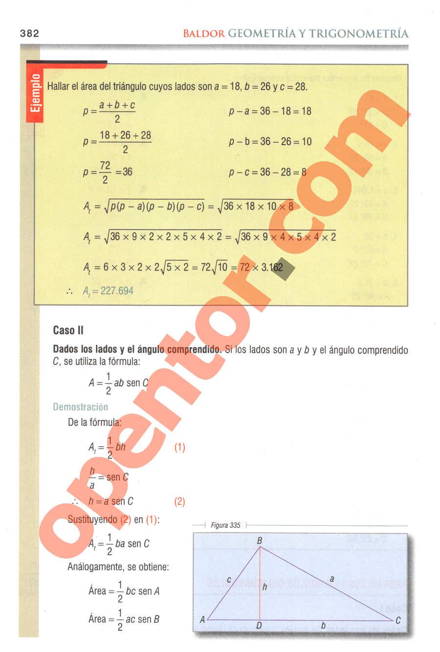 Geometría y Trigonometría de Baldor - Página 382