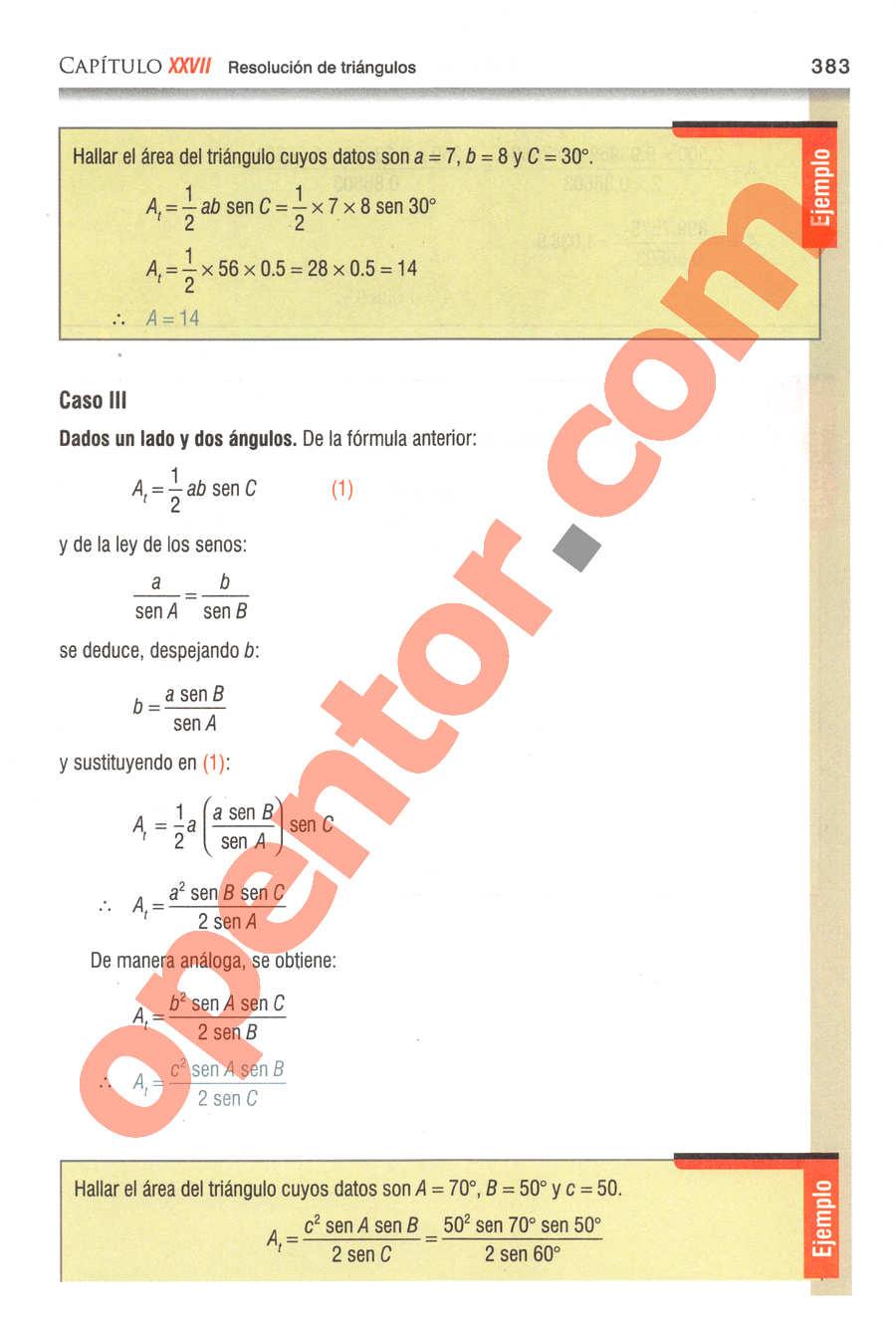 Geometría y Trigonometría de Baldor - Página 383