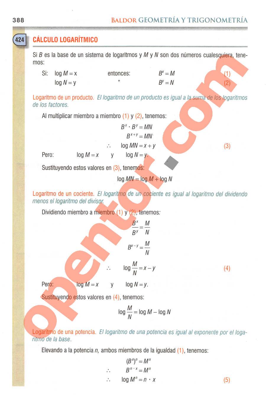 Geometría y Trigonometría de Baldor - Página 388
