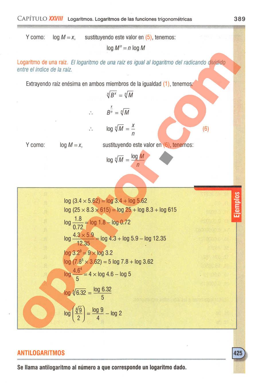 Geometría y Trigonometría de Baldor - Página 389