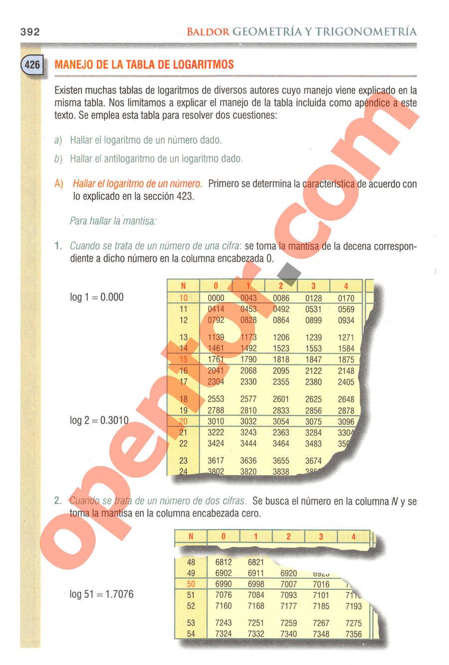 Geometría y Trigonometría de Baldor - Página 392