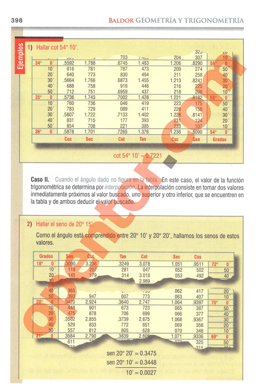 Geometría y Trigonometría de Baldor - Página 398