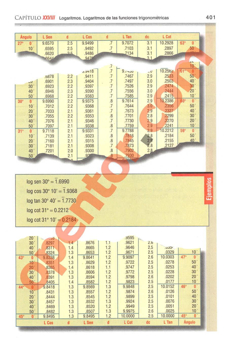 Geometría y Trigonometría de Baldor - Página 401