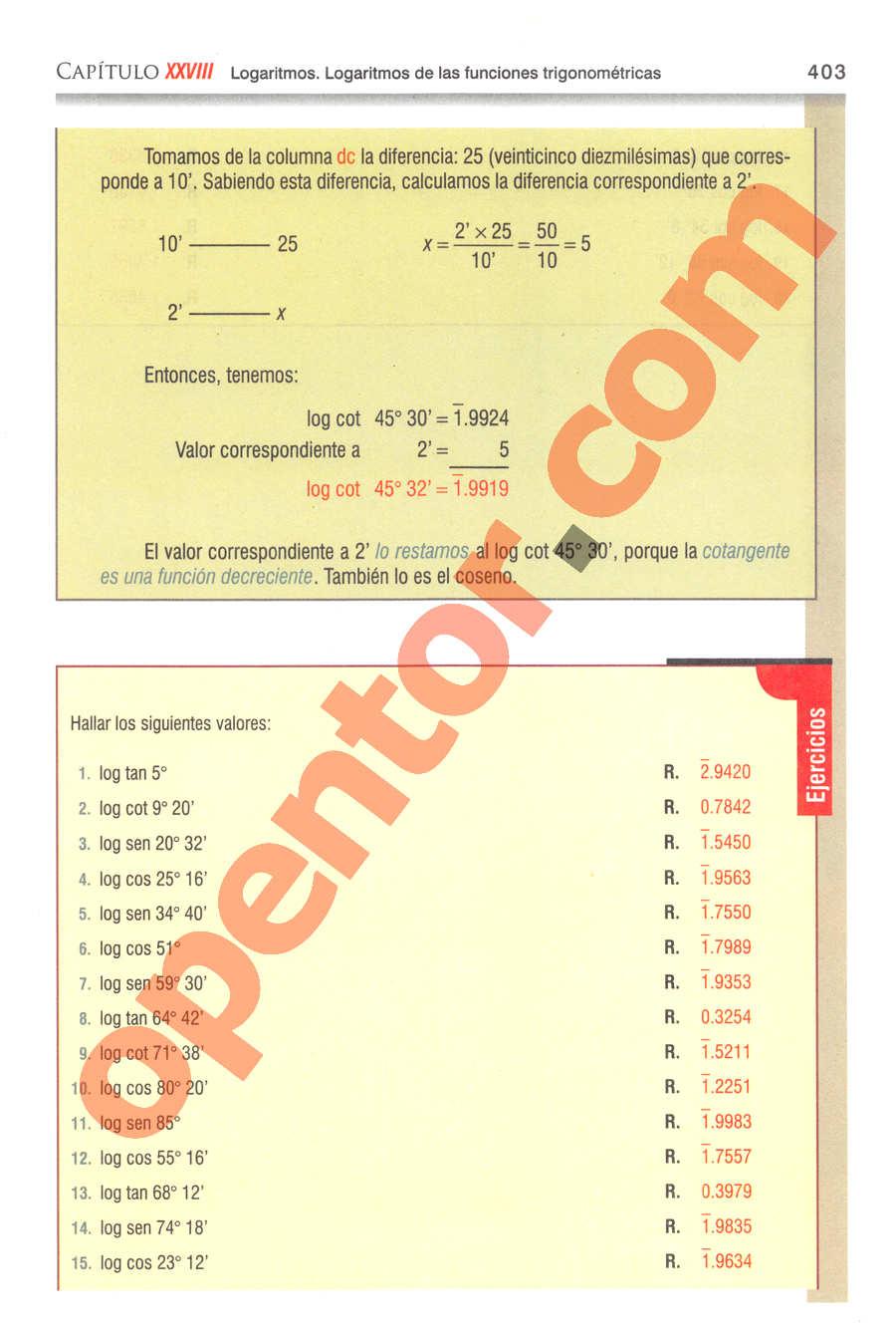 Geometría y Trigonometría de Baldor - Página 403