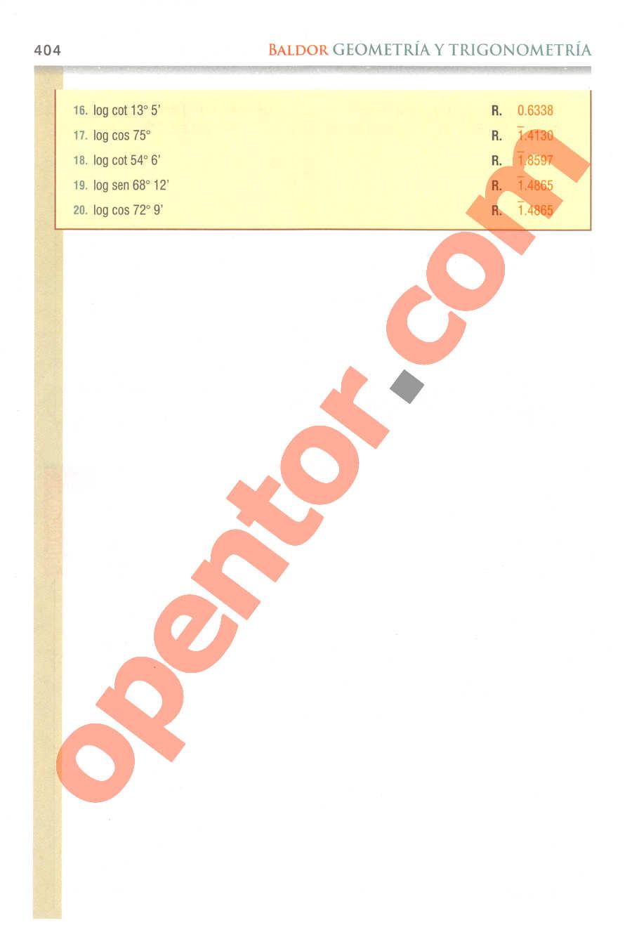 Geometría y Trigonometría de Baldor - Página 404