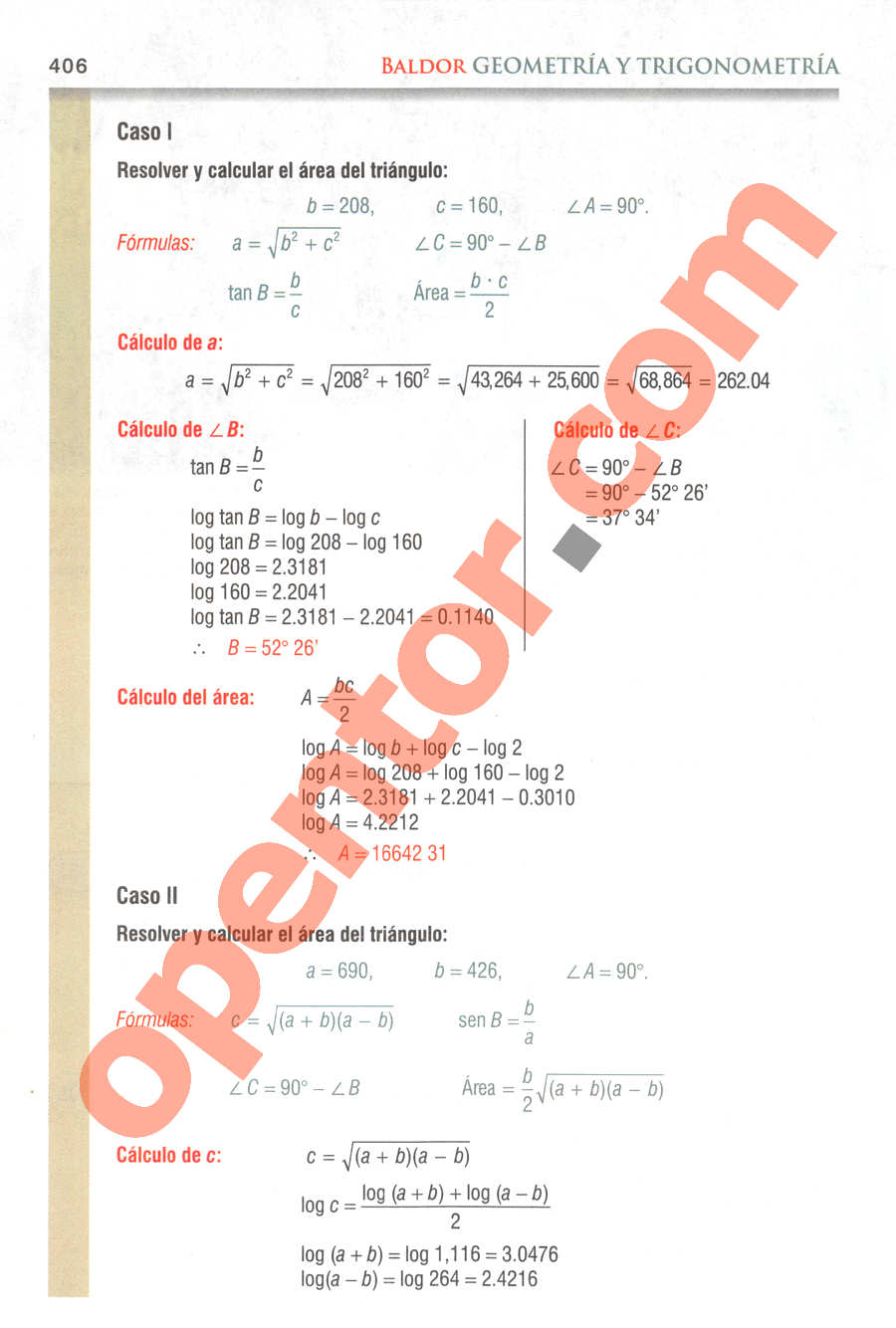 Geometría y Trigonometría de Baldor - Página 406