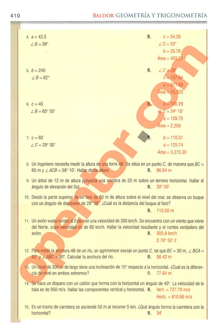 Geometría y Trigonometría de Baldor - Página 410