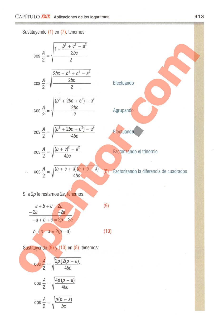 Geometría y Trigonometría de Baldor - Página 413