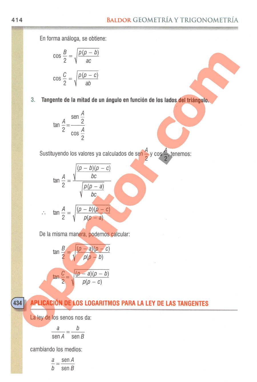 Geometría y Trigonometría de Baldor - Página 414