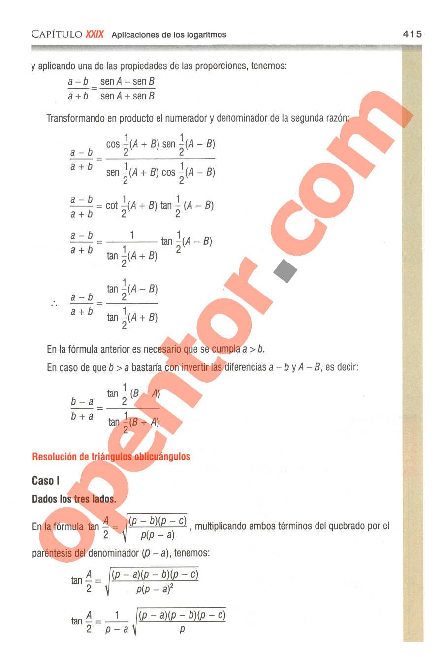 Geometría y Trigonometría de Baldor - Página 415