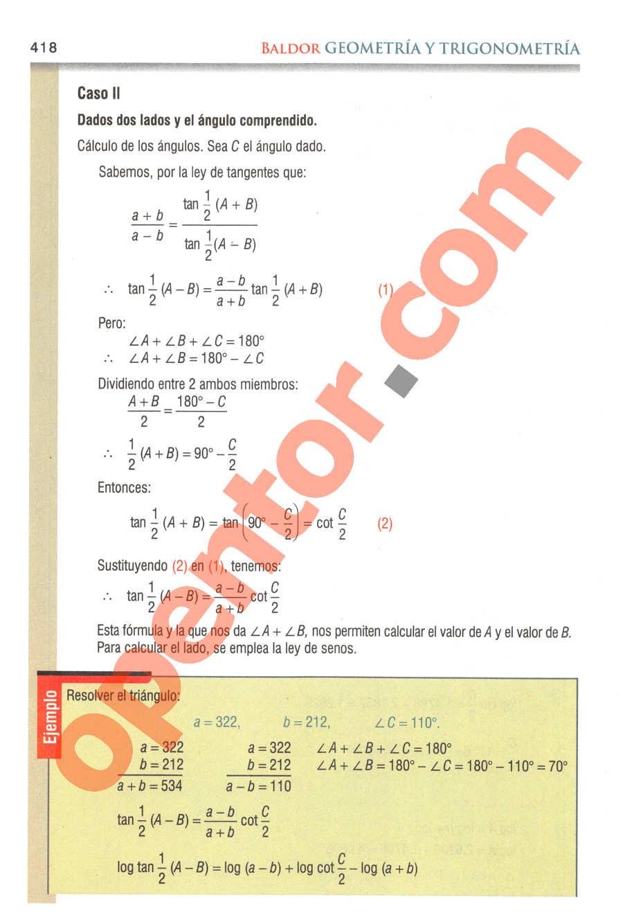 Geometría y Trigonometría de Baldor - Página 418