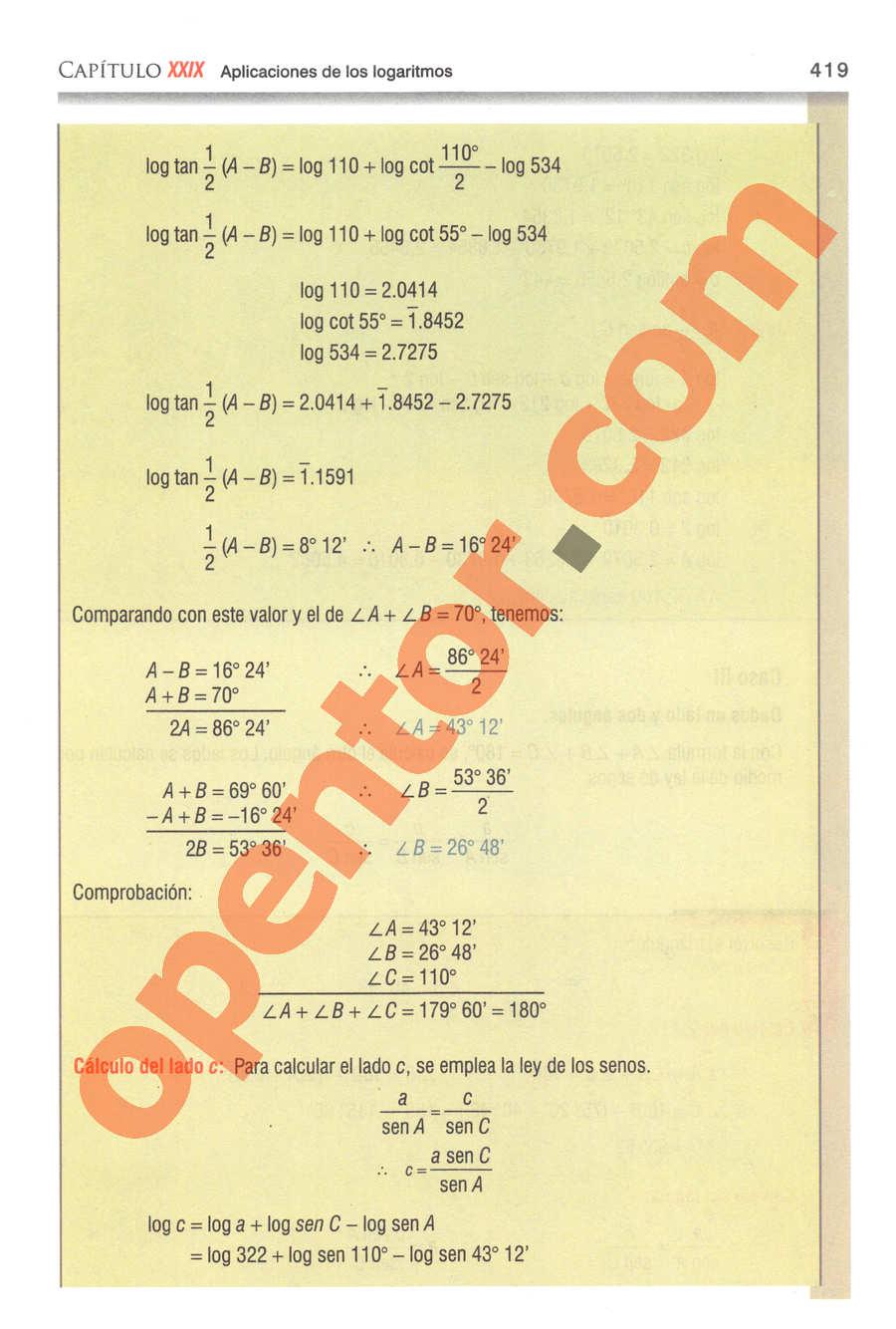 Geometría y Trigonometría de Baldor - Página 419