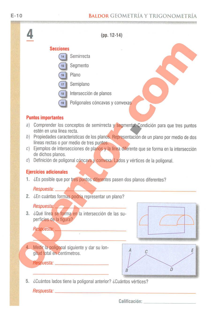 Geometría y Trigonometría de Baldor - Página E10