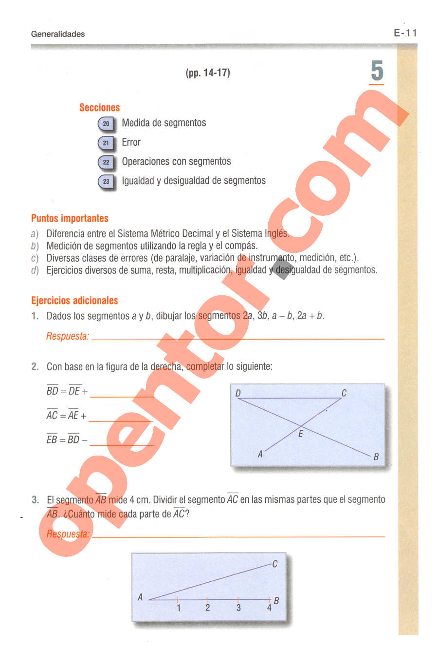 Geometría y Trigonometría de Baldor - Página E11