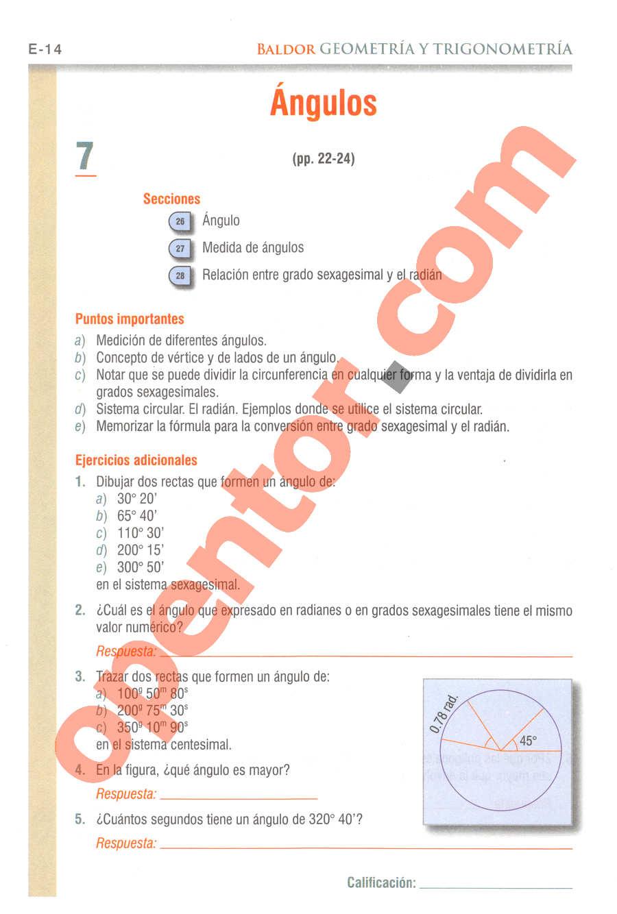 Geometría y Trigonometría de Baldor - Página E14