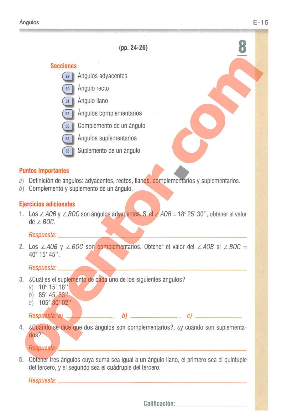 Geometría y Trigonometría de Baldor - Página E15