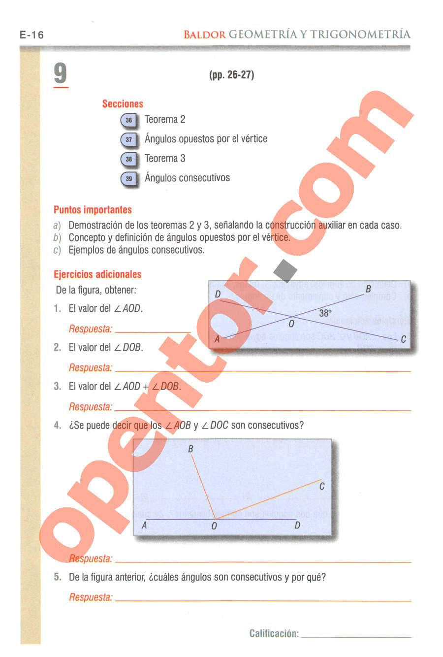 Geometría y Trigonometría de Baldor - Página E16
