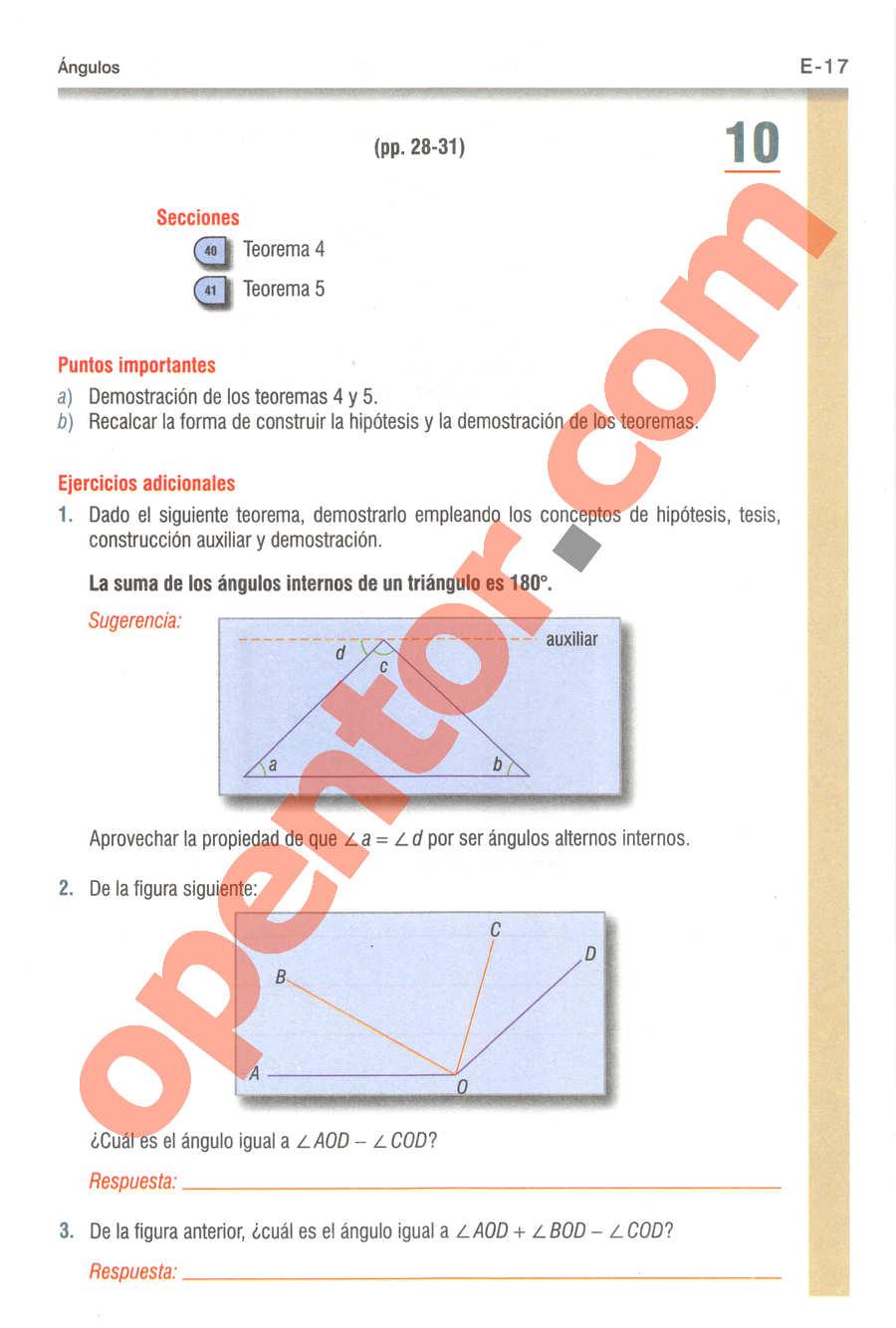 Geometría y Trigonometría de Baldor - Página E17