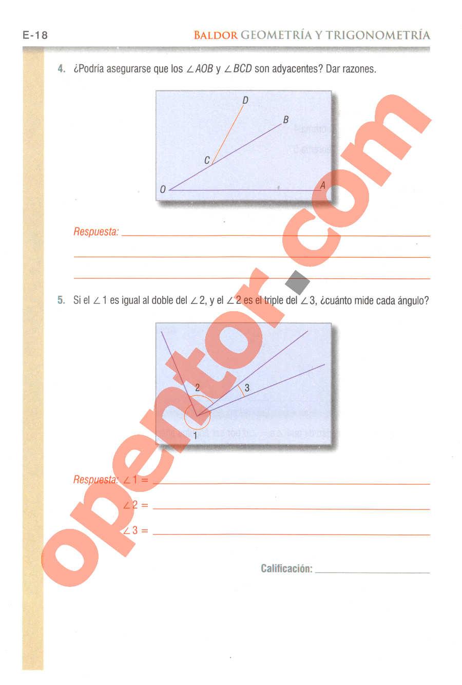 Geometría y Trigonometría de Baldor - Página E18