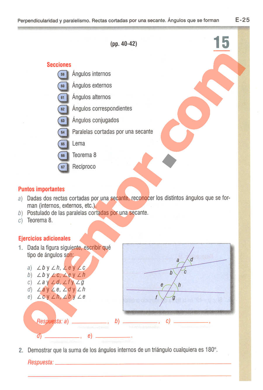 Geometría y Trigonometría de Baldor - Página E25