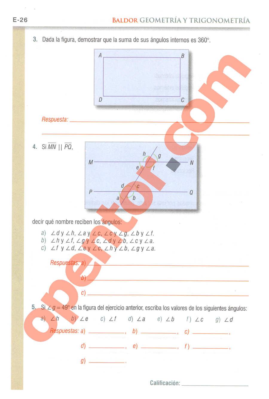 Geometría y Trigonometría de Baldor - Página E26