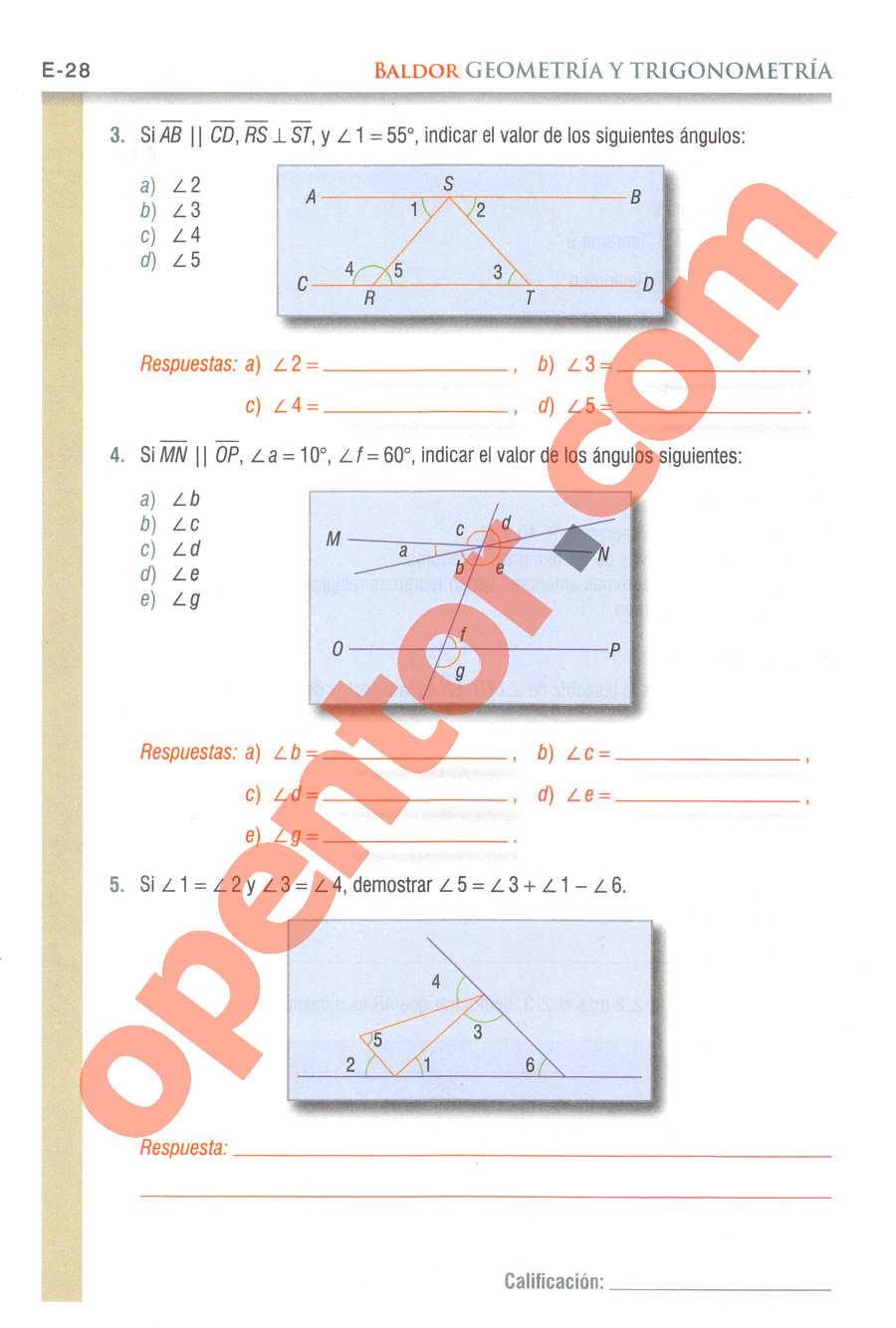 Geometría y Trigonometría de Baldor - Página E28