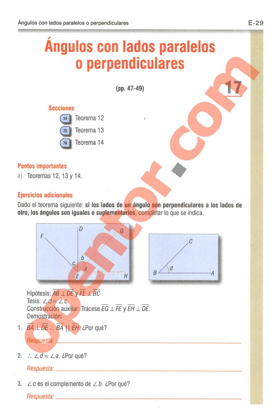 Geometría y Trigonometría de Baldor - Página E29