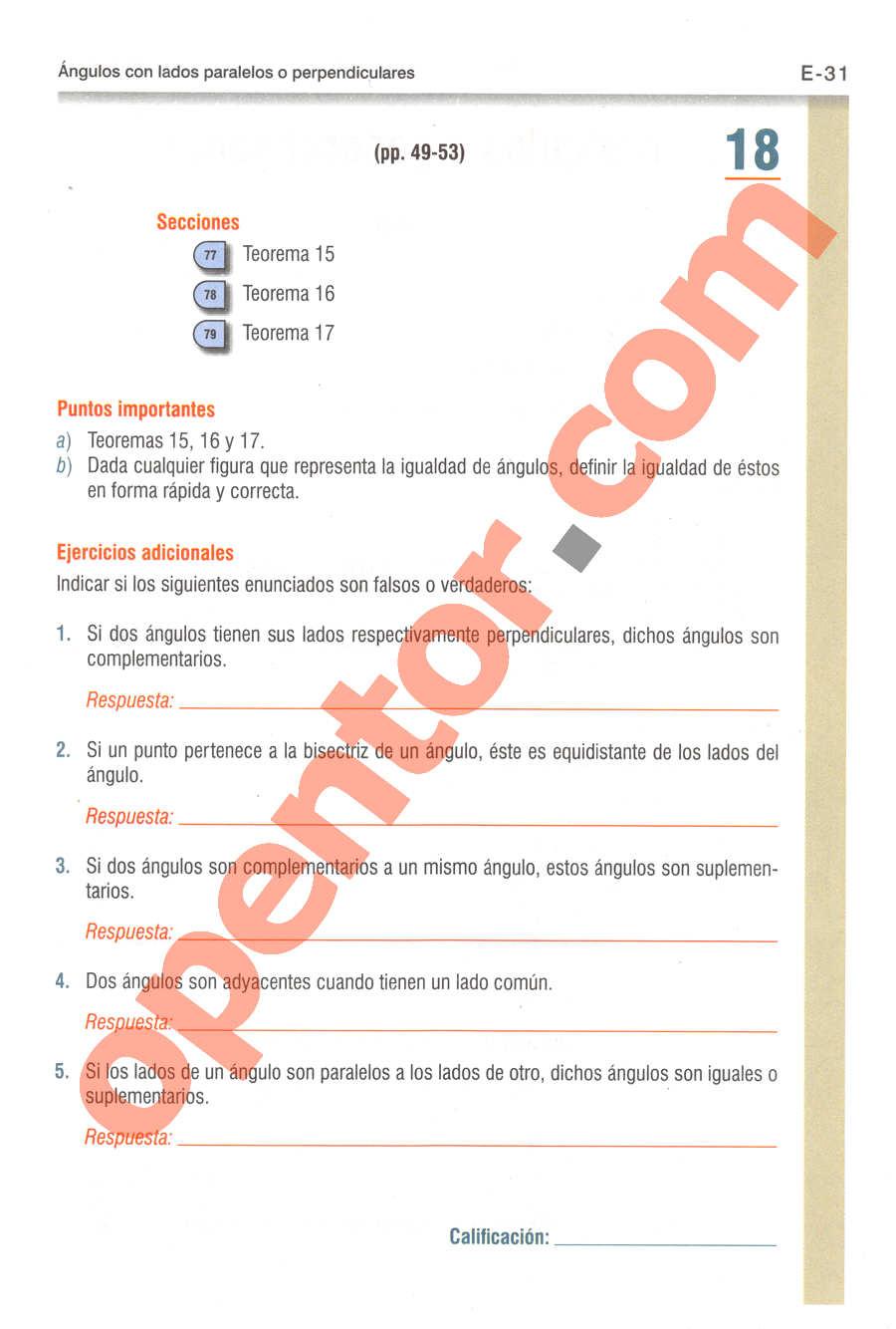 Geometría y Trigonometría de Baldor - Página E31
