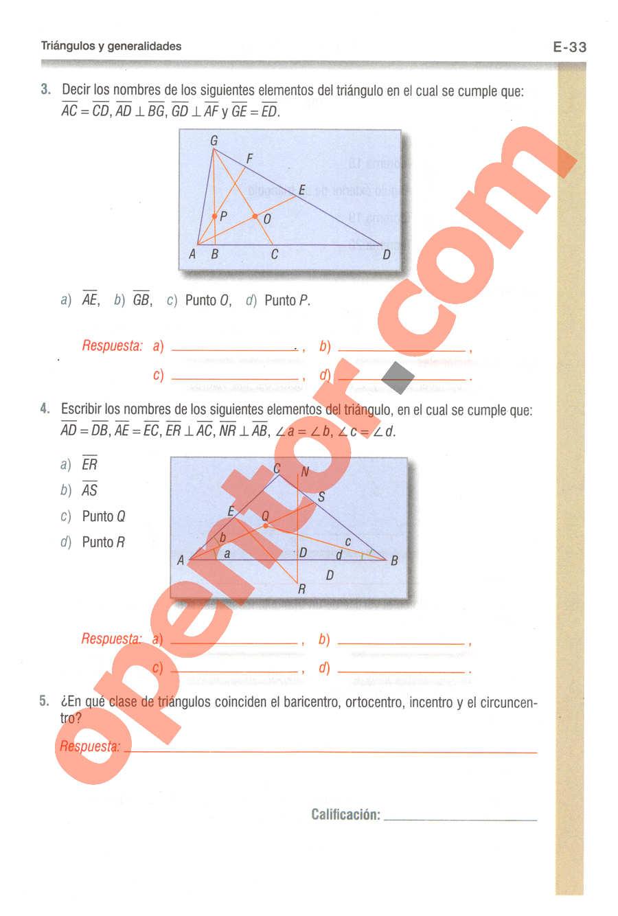 Geometría y Trigonometría de Baldor - Página E33