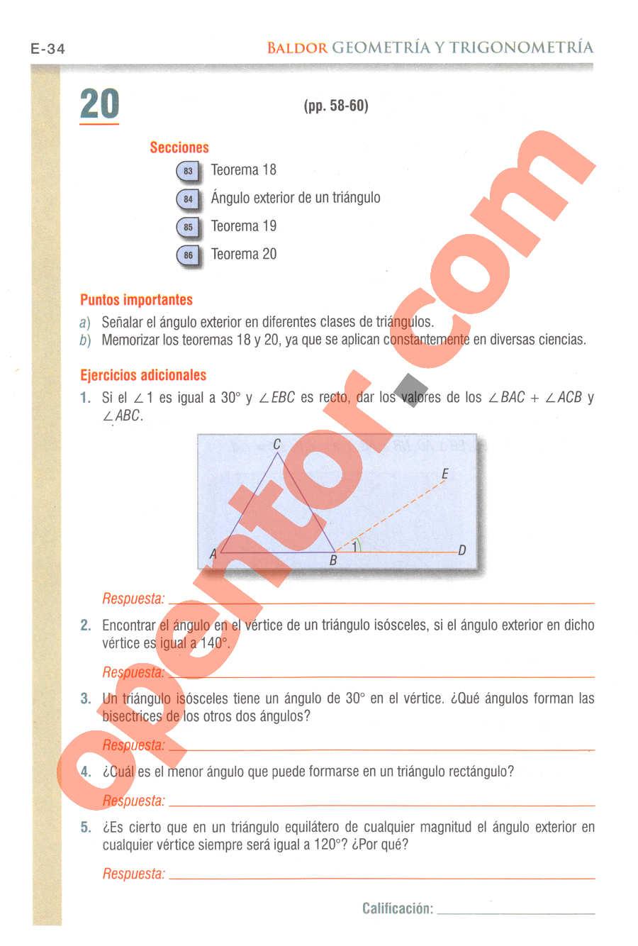 Geometría y Trigonometría de Baldor - Página E34