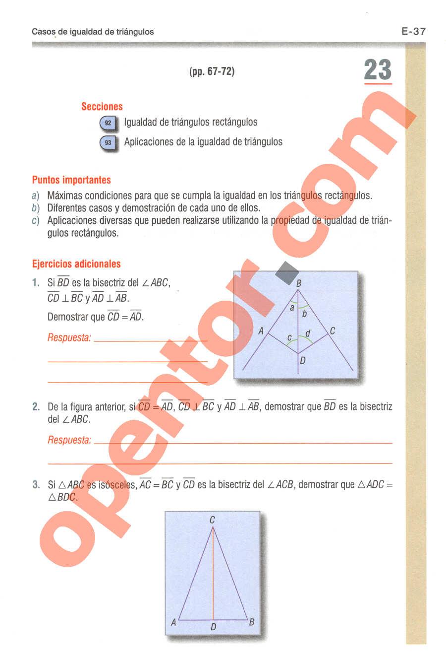 Geometría y Trigonometría de Baldor - Página E37