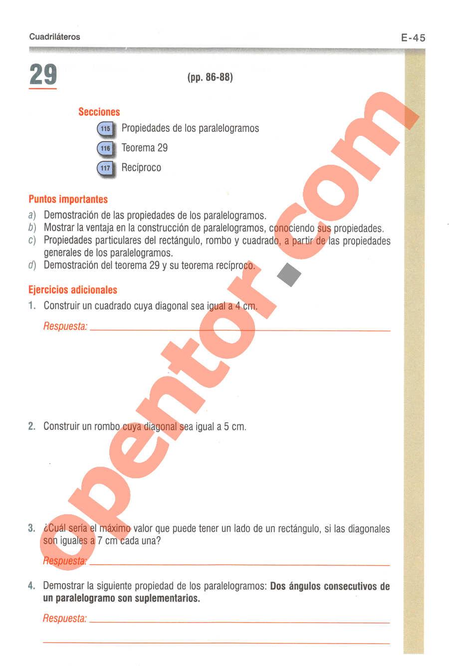 Geometría y Trigonometría de Baldor - Página E45