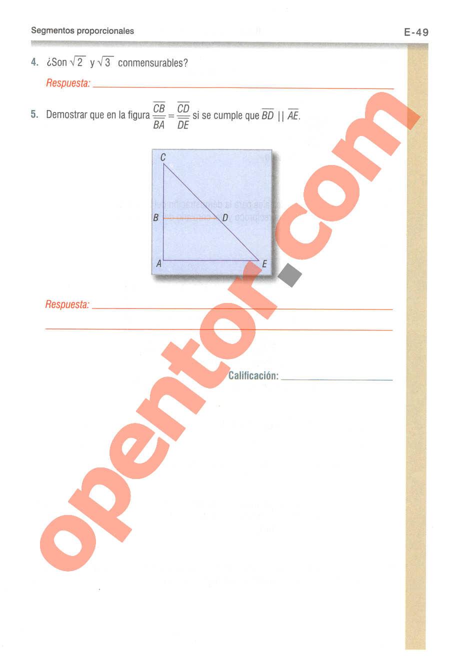 Geometría y Trigonometría de Baldor - Página E49