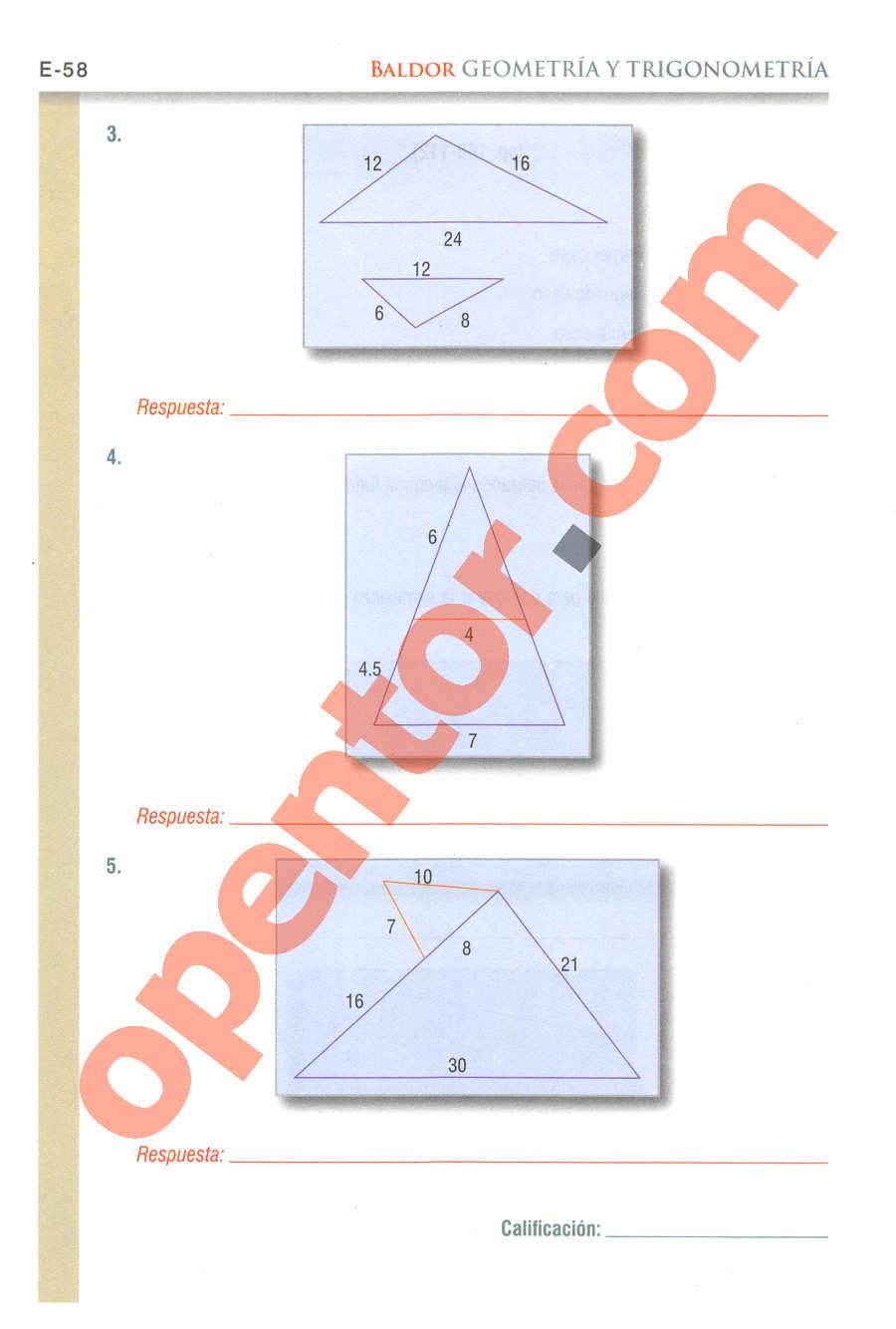 Geometría y Trigonometría de Baldor - Página E58