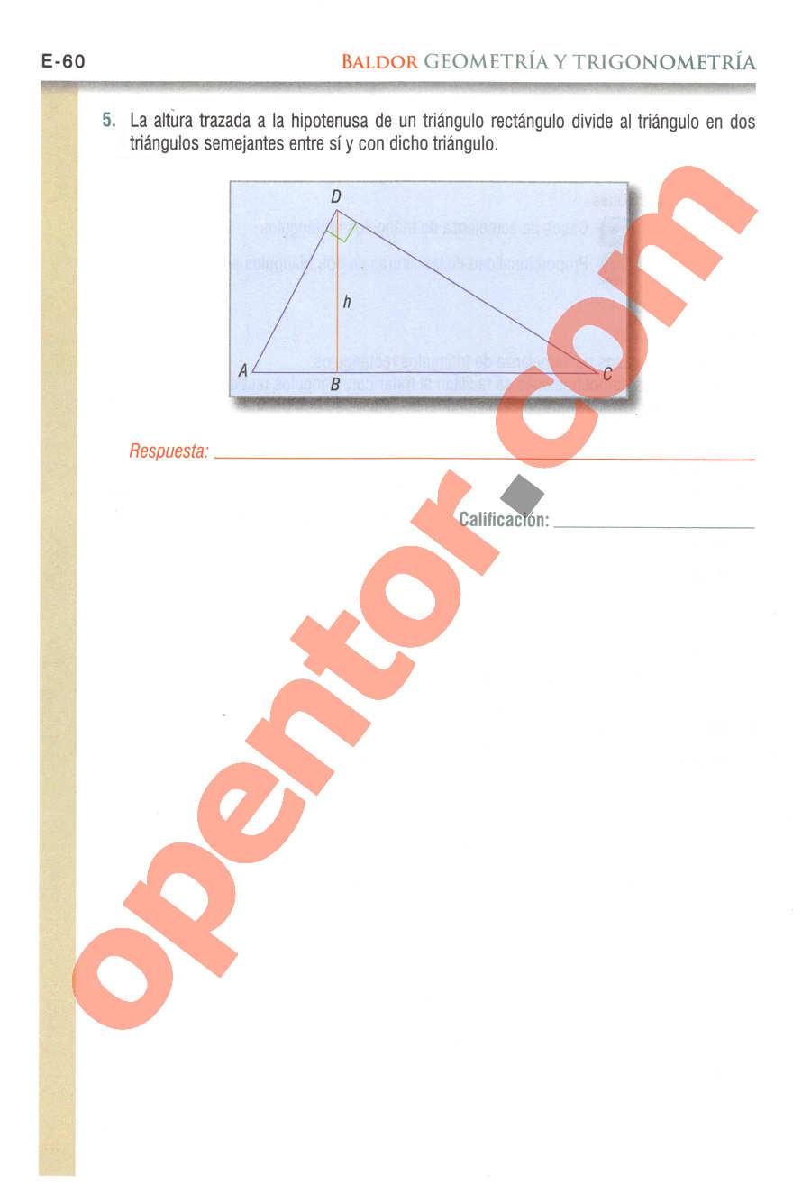Geometría y Trigonometría de Baldor - Página E60