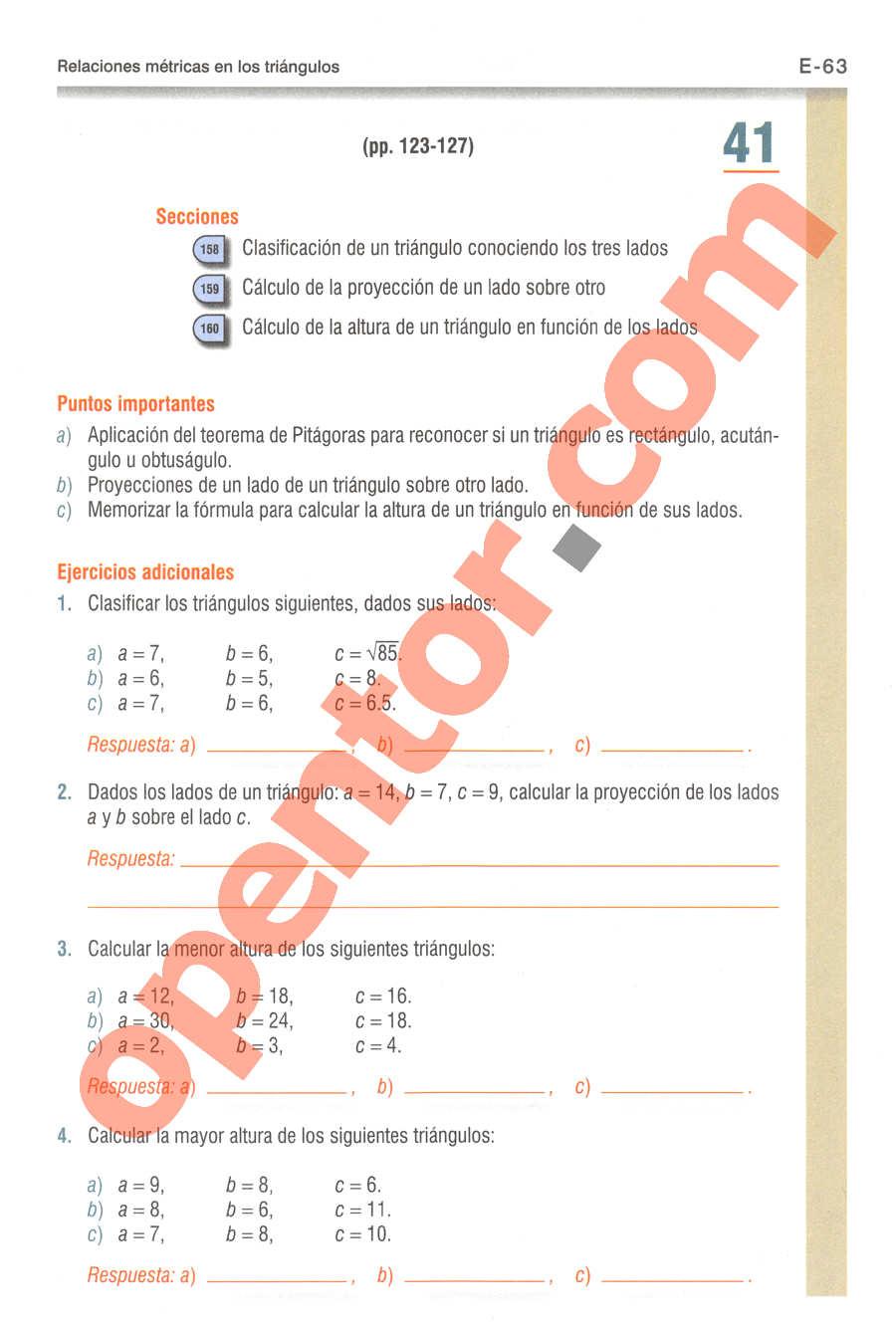Geometría y Trigonometría de Baldor - Página E63