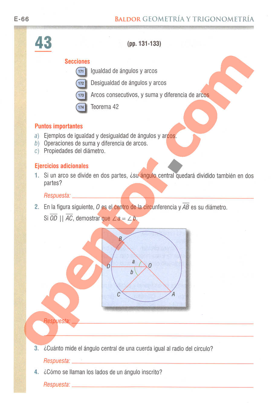 Geometría y Trigonometría de Baldor - Página E66