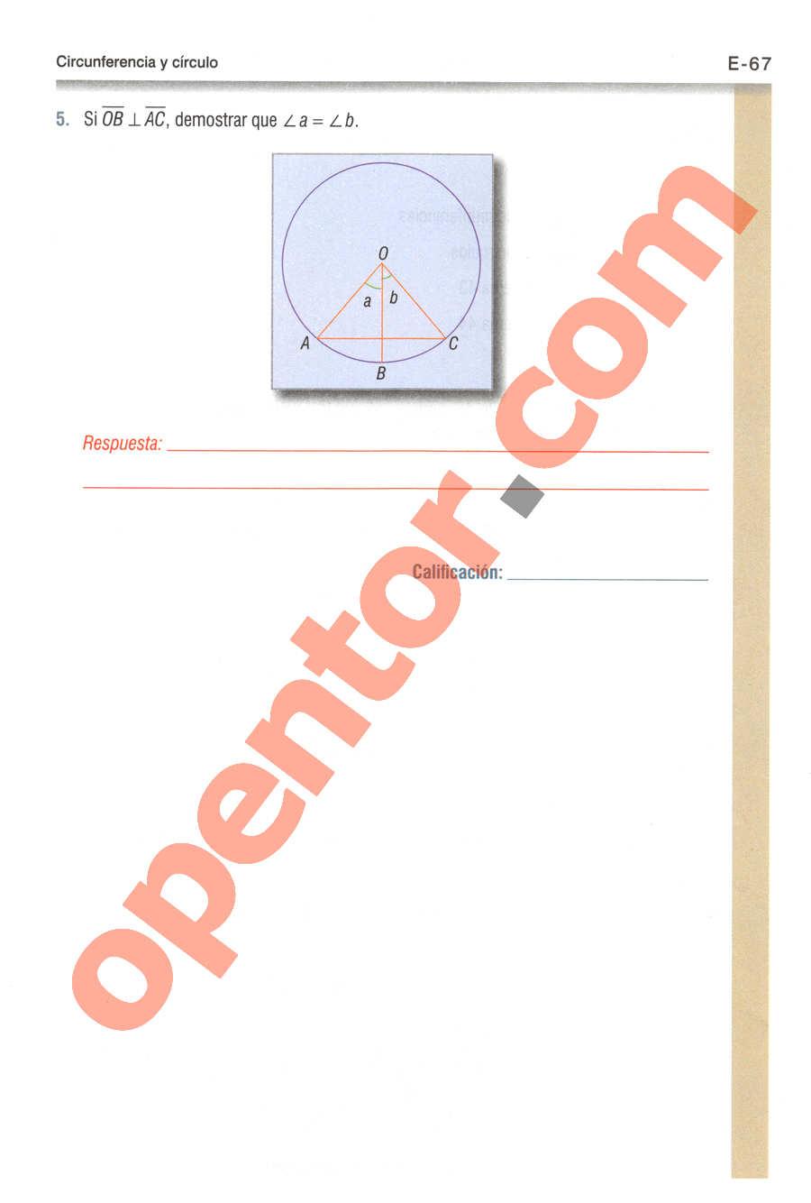 Geometría y Trigonometría de Baldor - Página E67