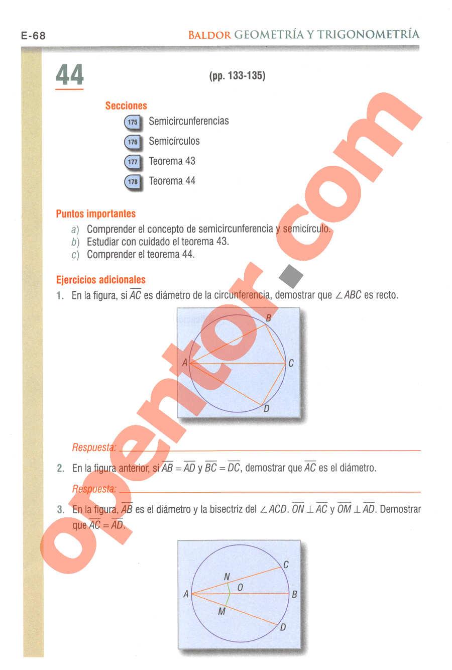 Geometría y Trigonometría de Baldor - Página E68