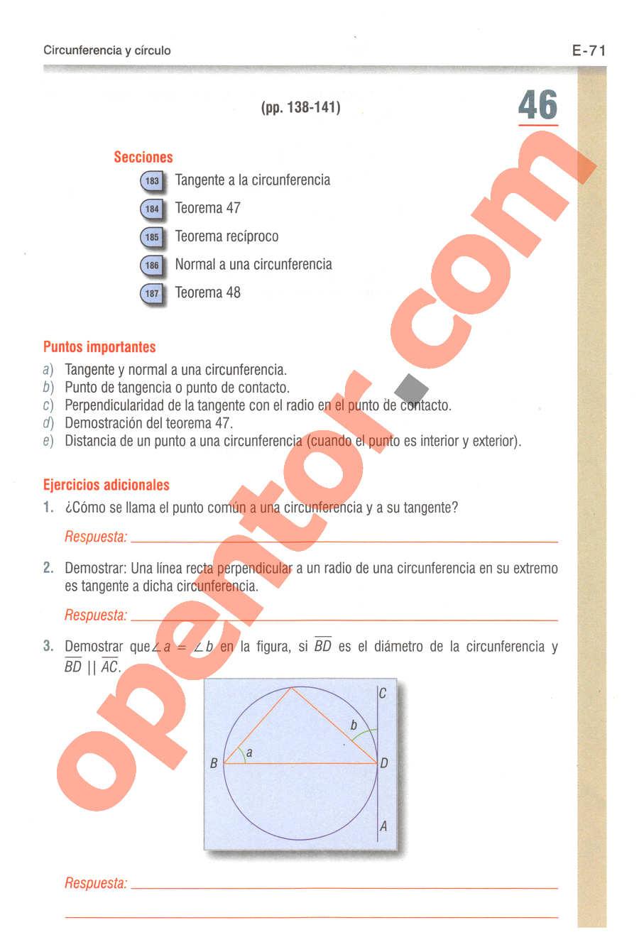 Geometría y Trigonometría de Baldor - Página E71