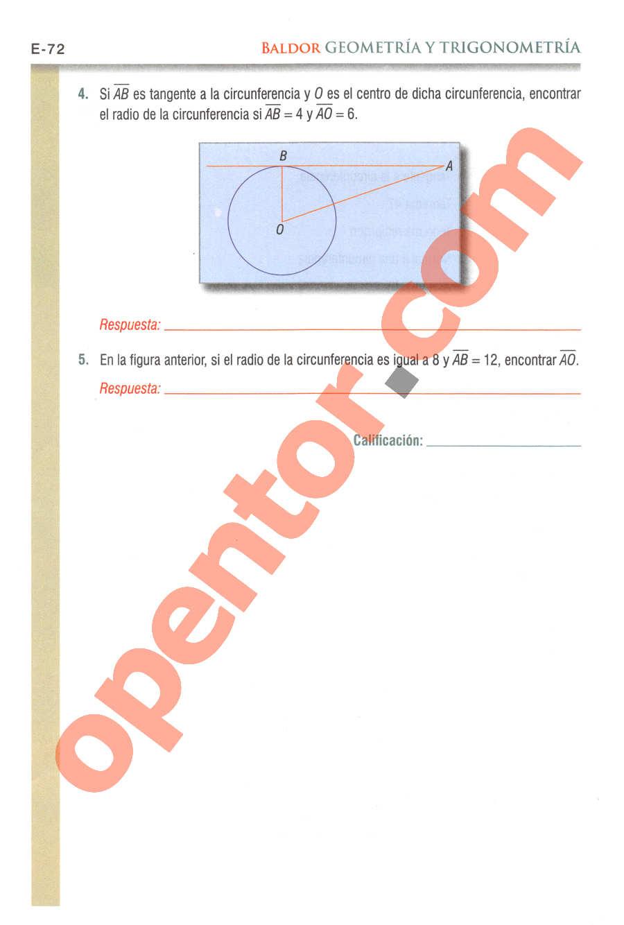 Geometría y Trigonometría de Baldor - Página E72