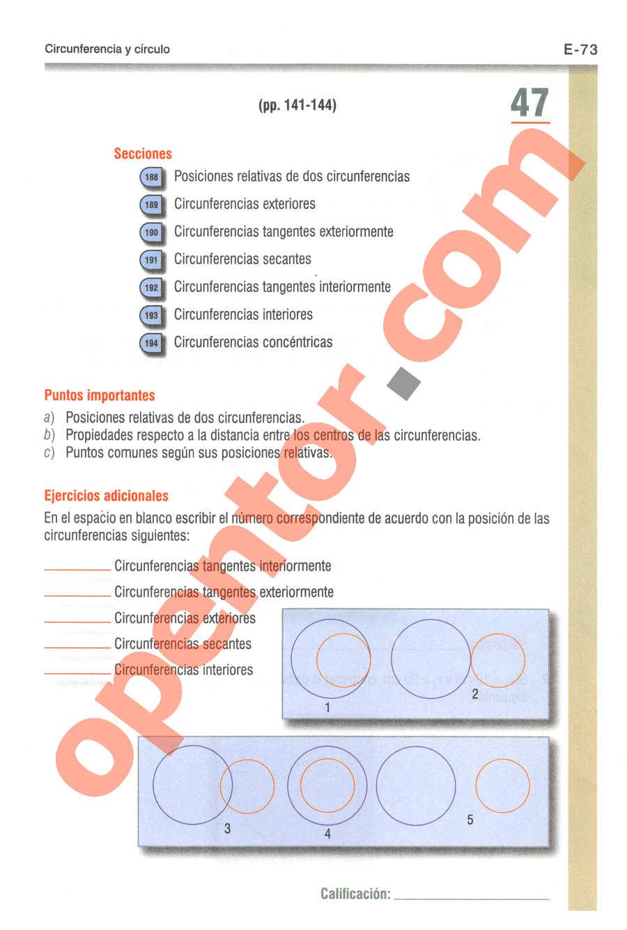 Geometría y Trigonometría de Baldor - Página E73