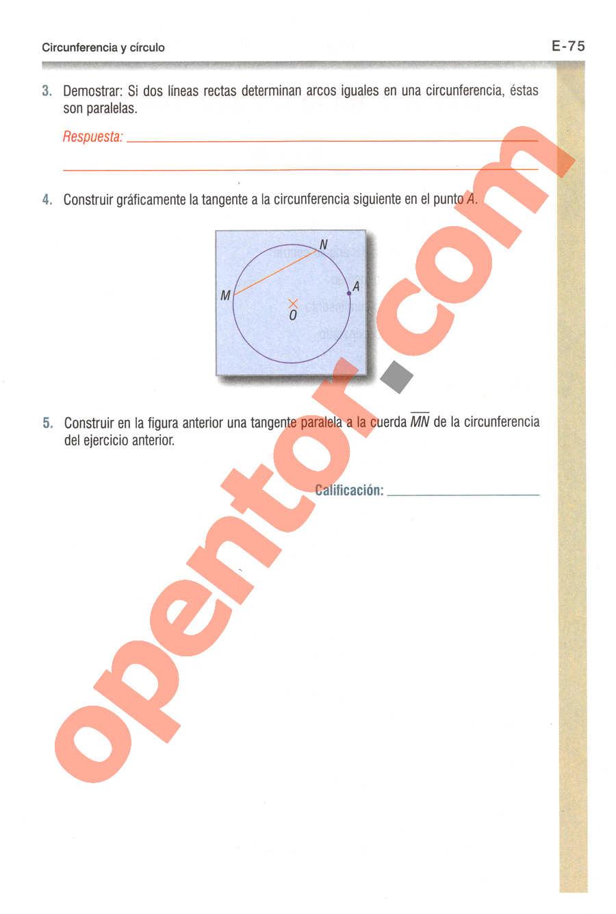 Geometría y Trigonometría de Baldor - Página E75
