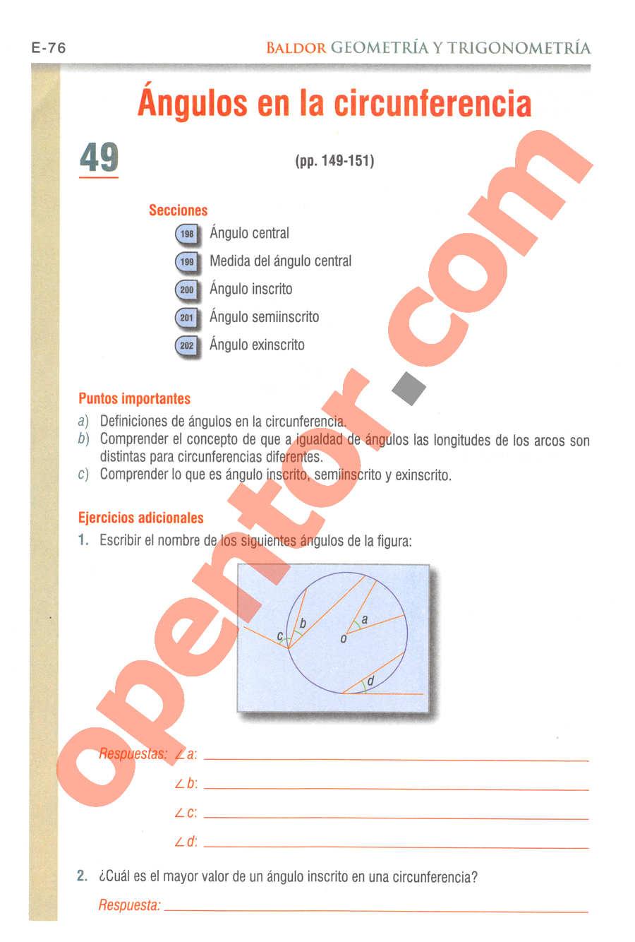 Geometría y Trigonometría de Baldor - Página E76
