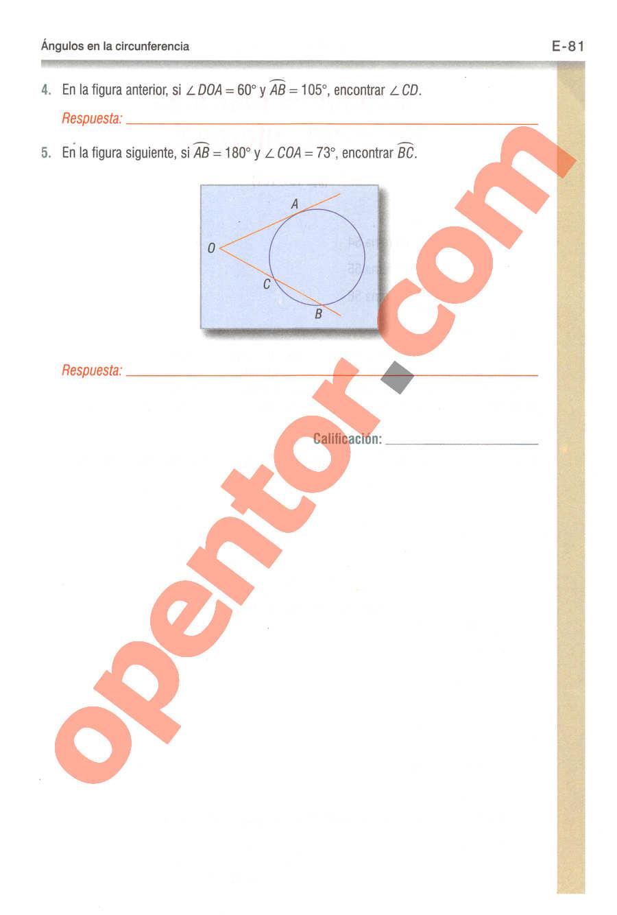 Geometría y Trigonometría de Baldor - Página E81