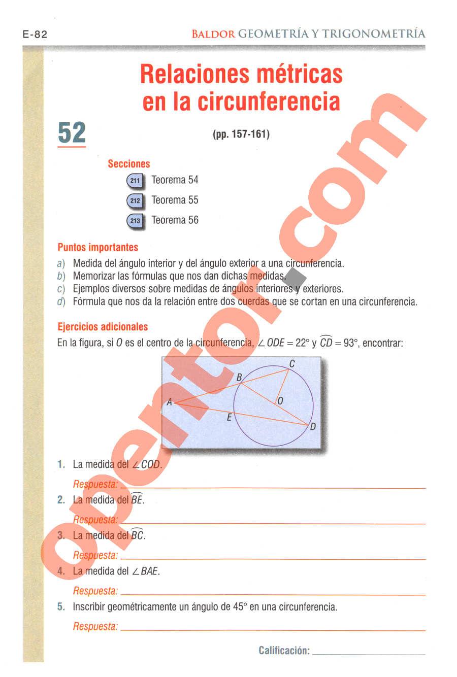 Geometría y Trigonometría de Baldor - Página E82