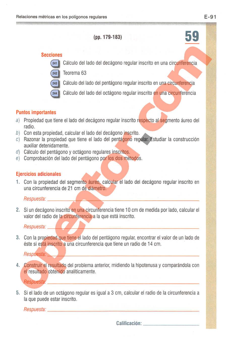 Geometría y Trigonometría de Baldor - Página E91