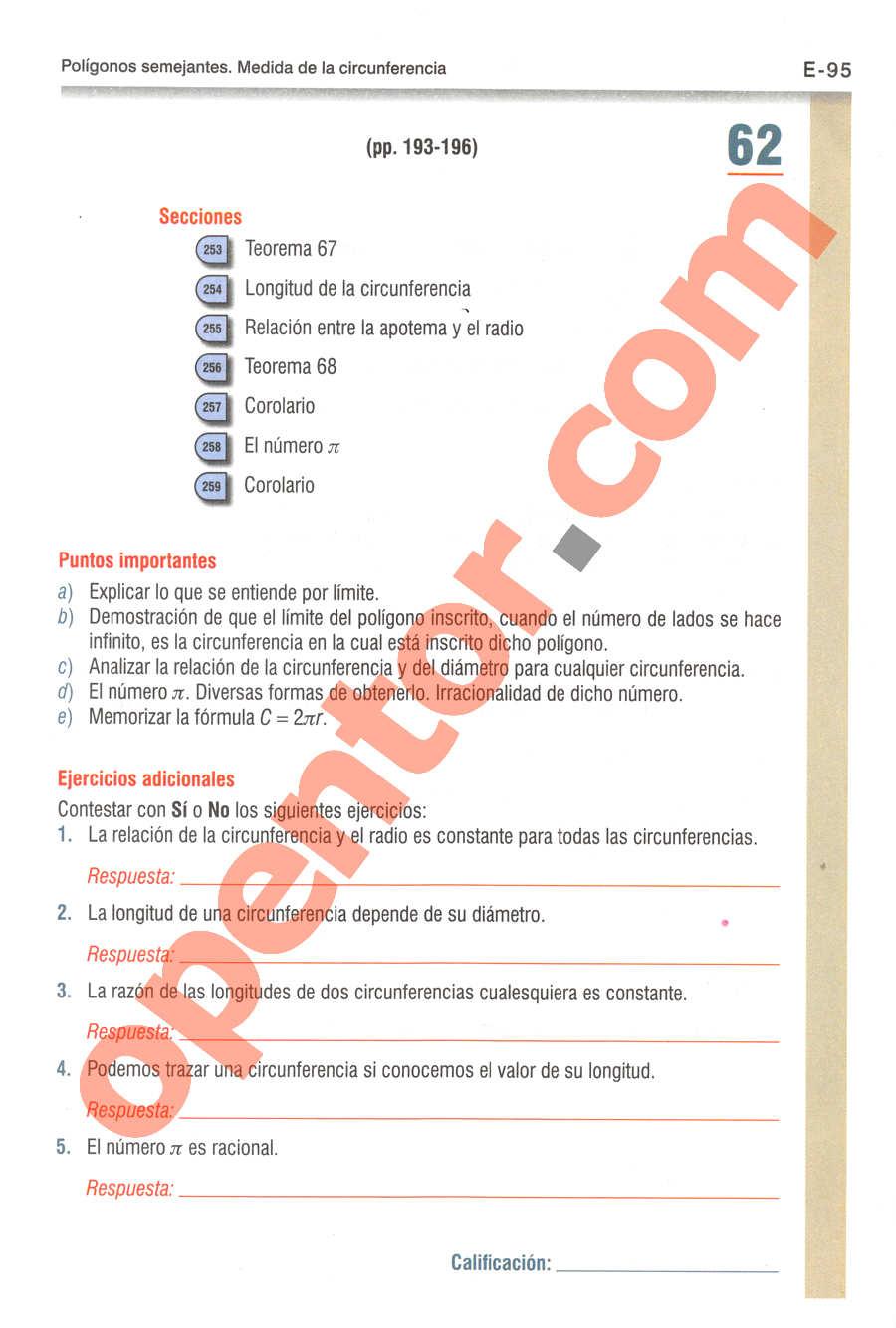 Geometría y Trigonometría de Baldor - Página E95